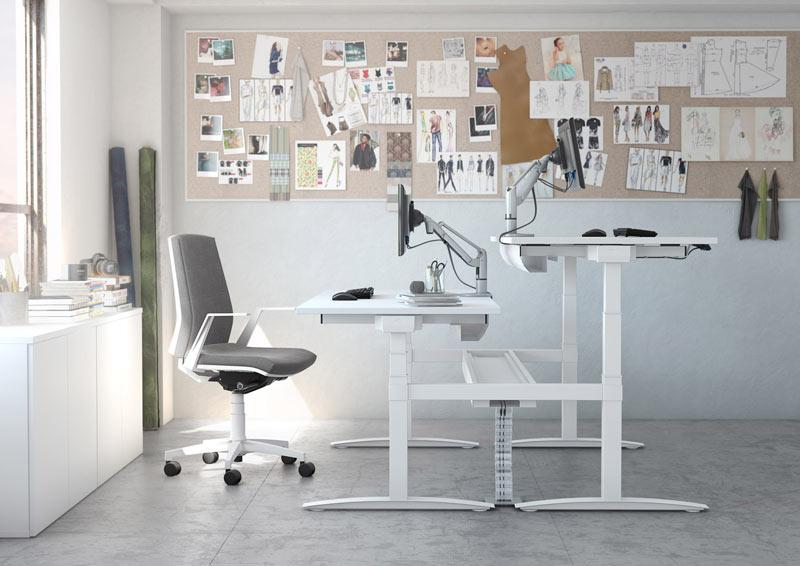 NOUVEAU Aménagez votre espace de travail avec un bureau ergonomique réglable en hauteur UP